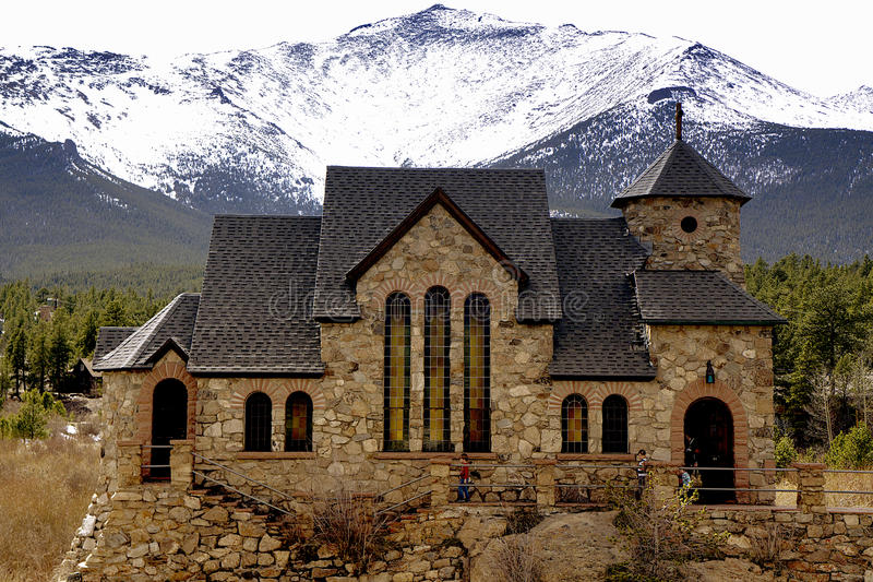 Chapel on the rock royalty free stock photography