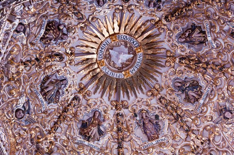 CHAPEL OF ROSARIO II. The cupola of chapel Rosario in Puebla. Mexico stock photography