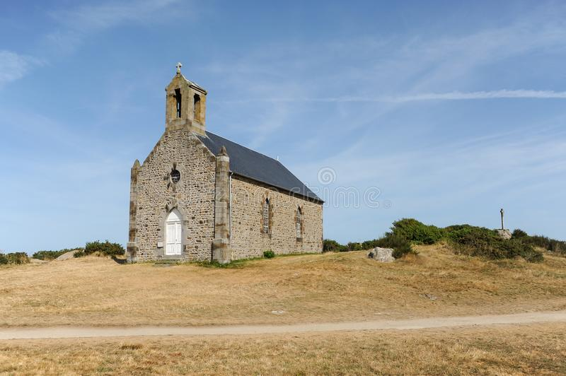 The chapel Saint-Corentin on the Ile de Sein in France royalty free stock photography