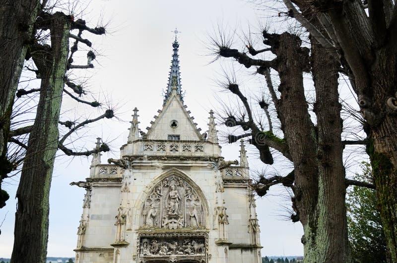 Chapel of Saint Hubert (France). Chapel of Saint Hubert (a grave of Leonardo da Vinci royalty free stock photography