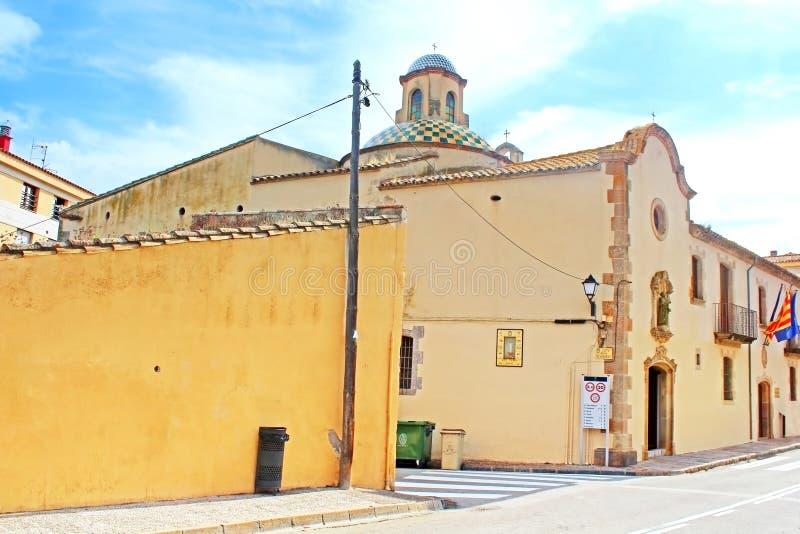 Chapel of Saint Michael, Tossa de Mar royalty free stock photography