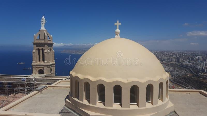 Chapel santa cruz from Oran royalty free stock photos