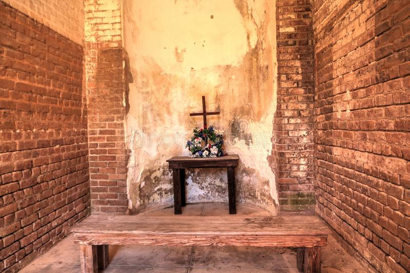 Chapel for the soldiers at Fort Zachary Taylor in Key West, Florida royalty free stock photography