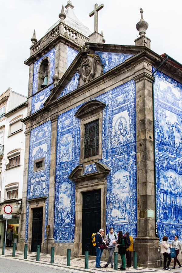 Chapel of Souls front facade in Porto, Portugal royalty free stock photos