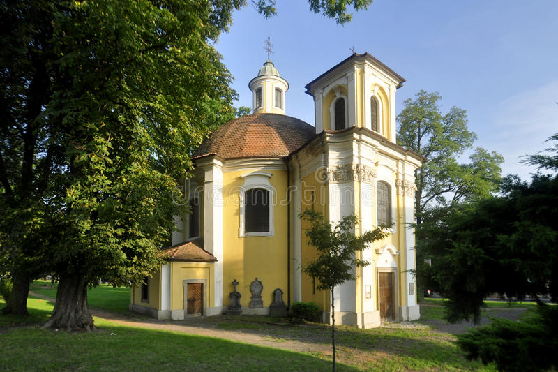 The chapel of St. Barbara in Duchcov. Czech Republic stock photos