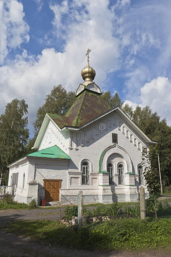 Chapel of St Gregory Pelshemskogo Kadnikov in the Vologda region royalty free stock image