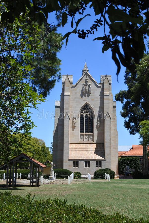 The Chapel of St. Mary and St. George Guildford Perth Western Australia. The Chapel of St. Mary and St. George, is one of the three latest Revival styles in royalty free stock images