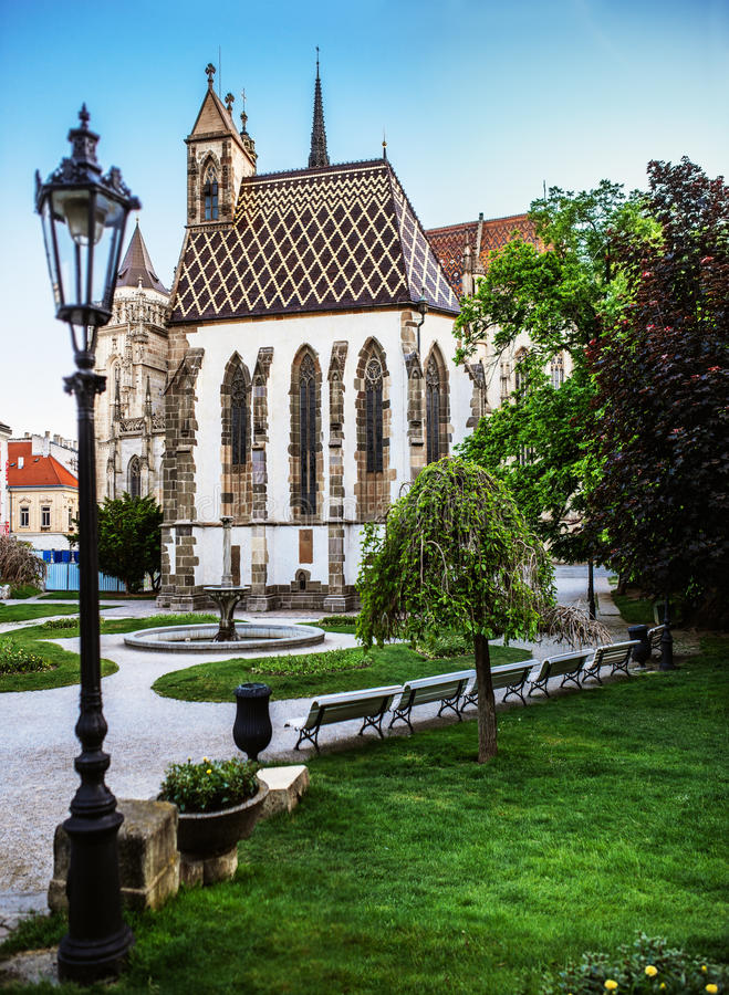Chapel of St. Michael in Kosice stock image