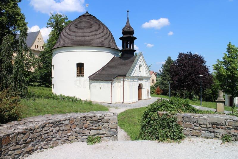Chapel of St. Roch and Sebestian in Fulnek. Czech republic stock images