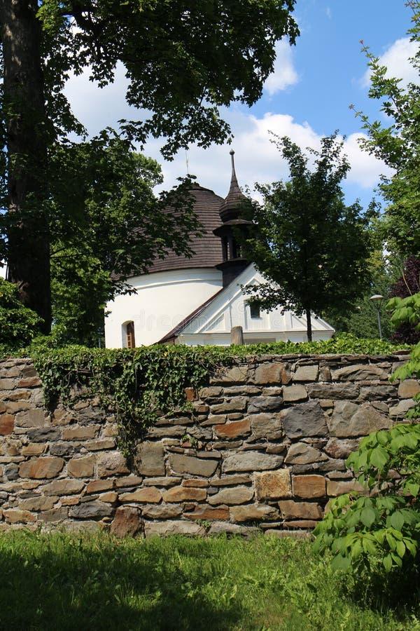 Chapel of St. Roch and Sebestian in Fulnek. Czech republic stock image