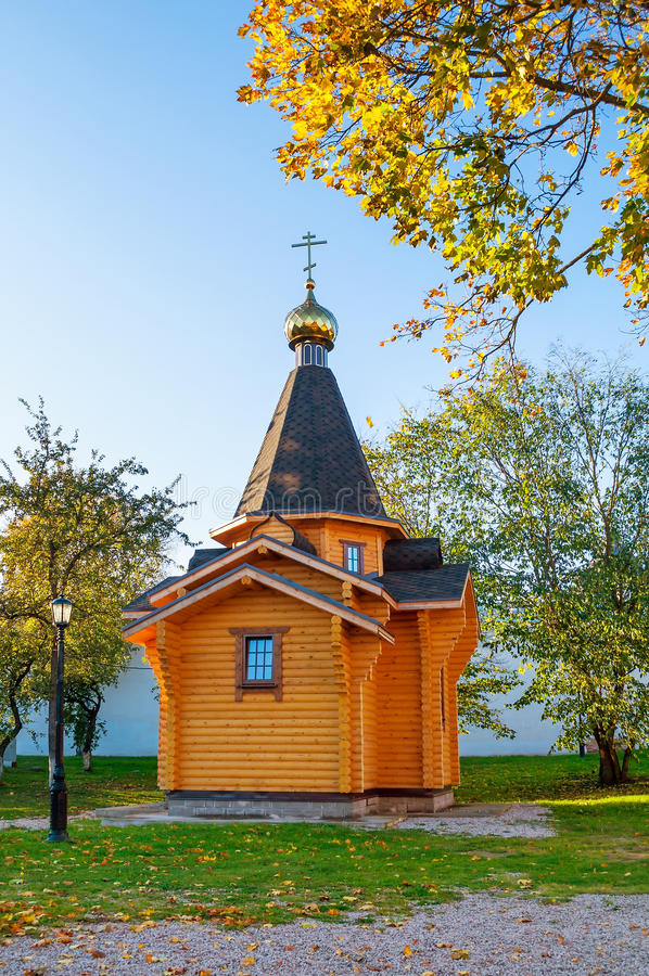 Chapel of St Vladimir - Prince of Novgorod and baptist of Rus in Kremlin in Veliky Novgorod, Russia royalty free stock photo