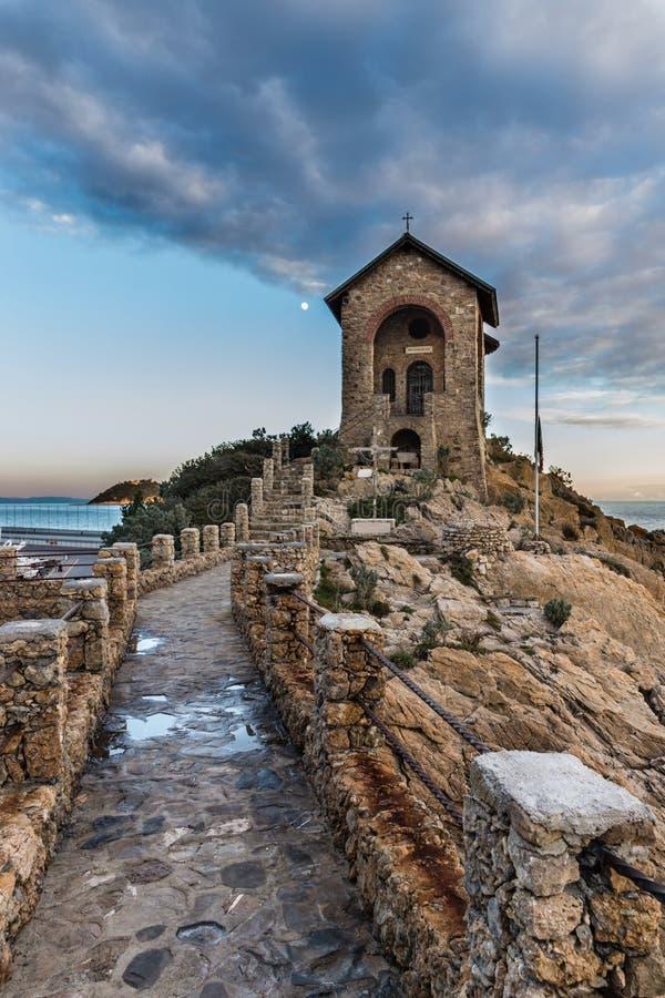 Chapel Stella Maris - Alassio Italy stock images