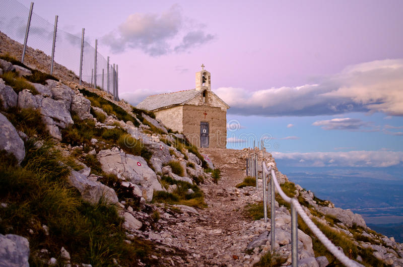 Chapel of sv. Jure in Biokovo park, Croatia. Little chapel of sv. Jure in Biokovo park, Croatia stock photos