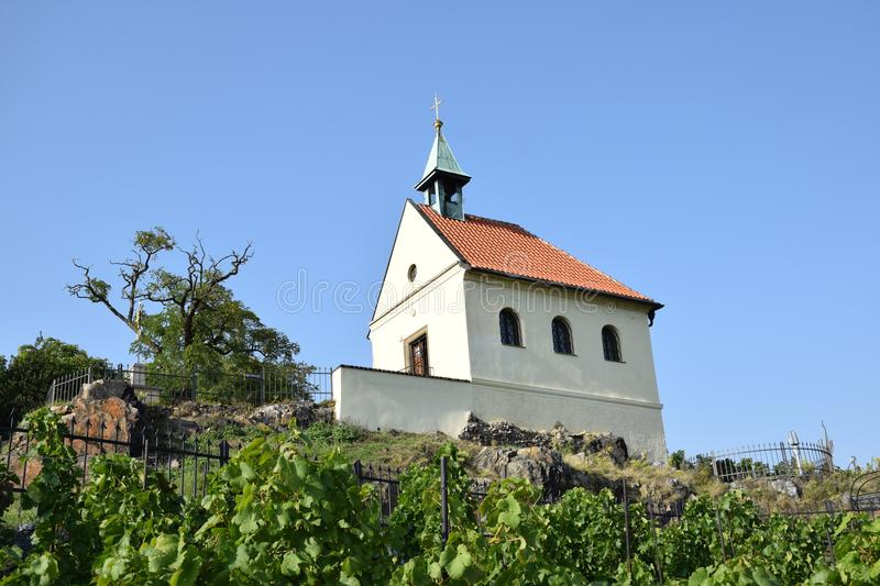 Chapel on the hill royalty free stock photography
