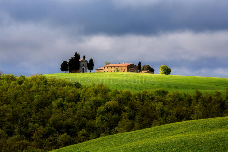 Download Chapel in Tuscany stock image. Image of countryside, hour - 25006943