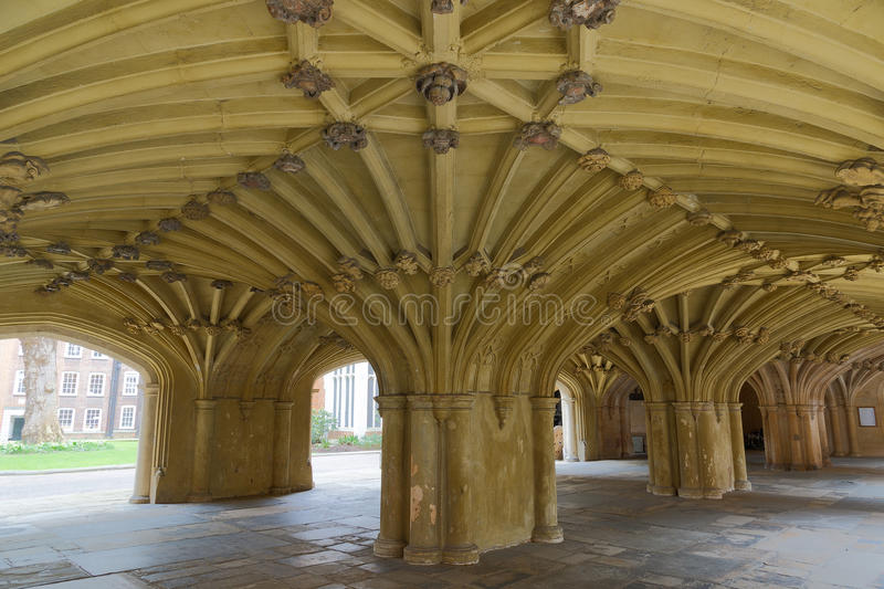 The Chapel Undercroft Lincolns Inn London. Architecture details - Lincolns Inn vaulted ceiling. The Honourable Society of Lincoln's Inn is one of four Inns of stock photography