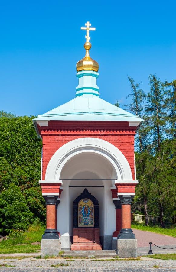 Chapel on Valaam, Karelia, Russia. Chapel near Spaso-Preobrazhensky monastery, Valaam island, Russia royalty free stock photography