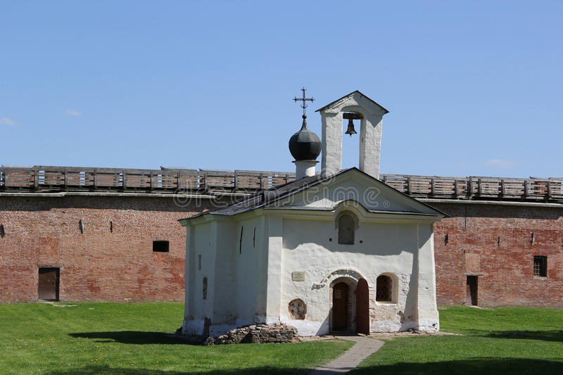 Chapel in Velikiy Novgorod. Little chapel in Velikiy Novgorod royalty free stock photos