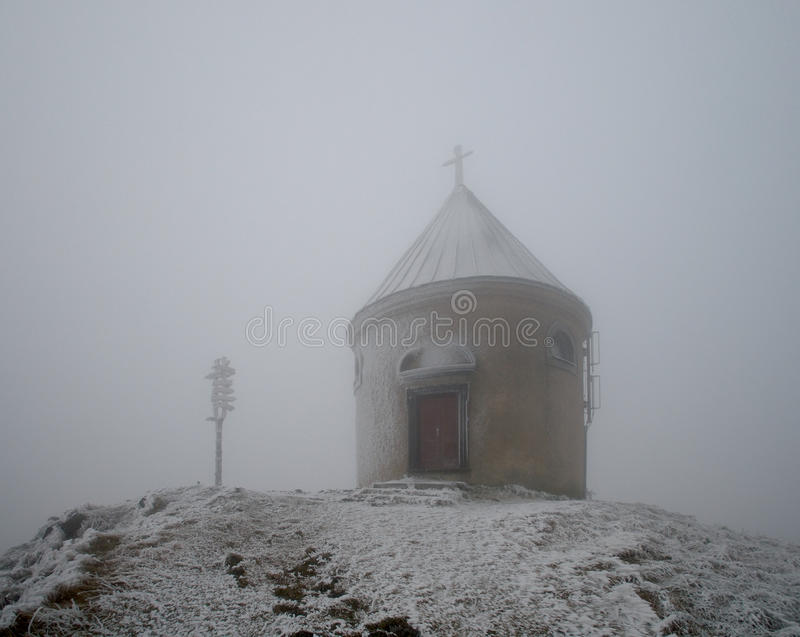 Download Chapel in winter stock image. Image of republic, mountains - 27751859