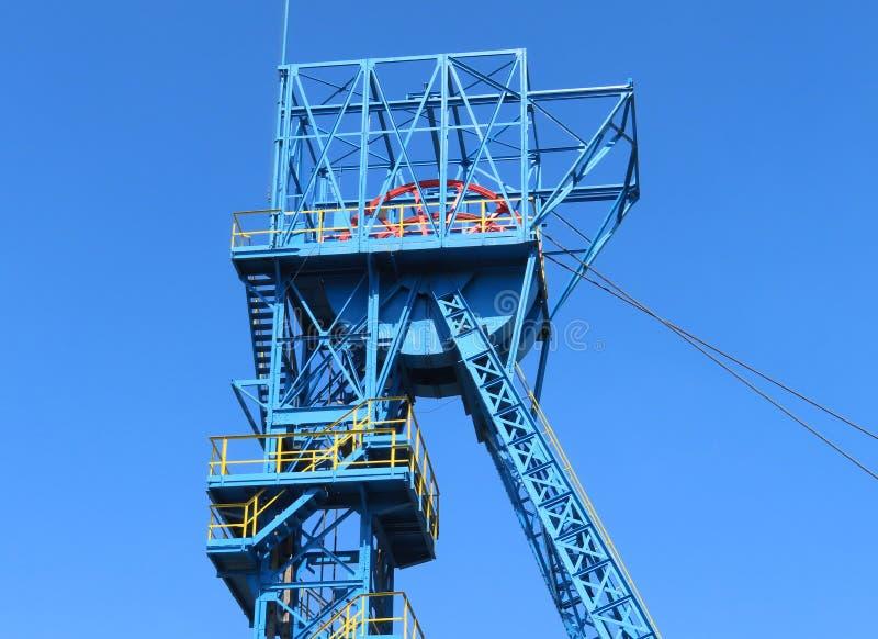 Chapelaria da mina de carvão preta muito velha Guido em Zabrze, Polônia imagem de stock