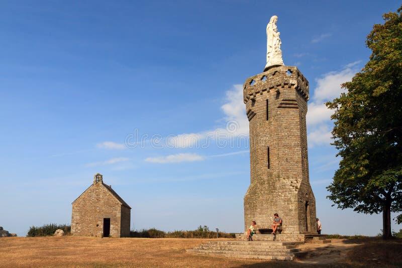 Chapelle圣米歇尔du Mont Dol 库存图片