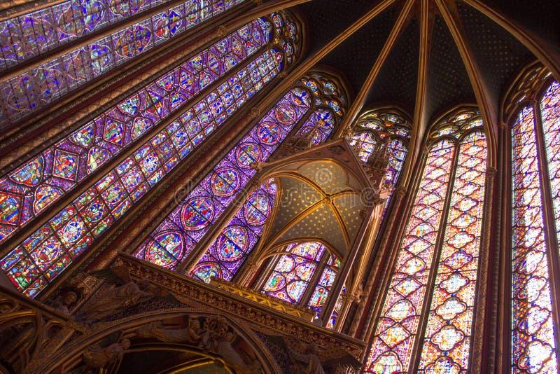 chapelle Παρίσι sainte στοκ εικόνα με δικαίωμα ελεύθερης χρήσης