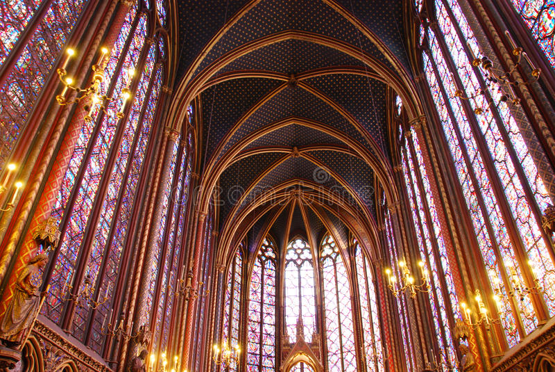 chapelle Παρίσι sainte στοκ εικόνες
