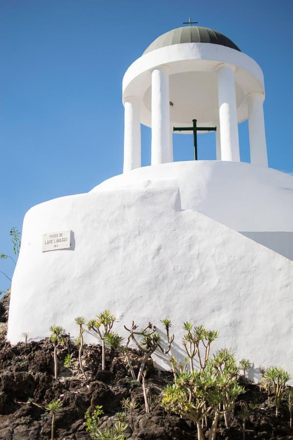 Chapelle blanche sur Ténérife photo stock