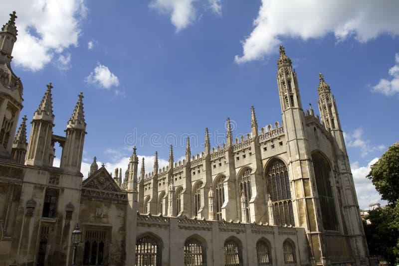 Chapelle Cambridge d'université de rois photo libre de droits