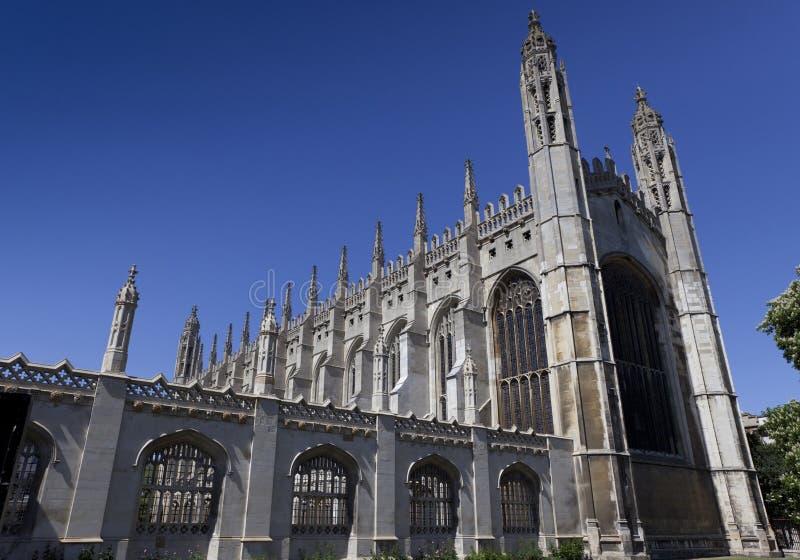Chapelle Cambridge d'université de rois images stock