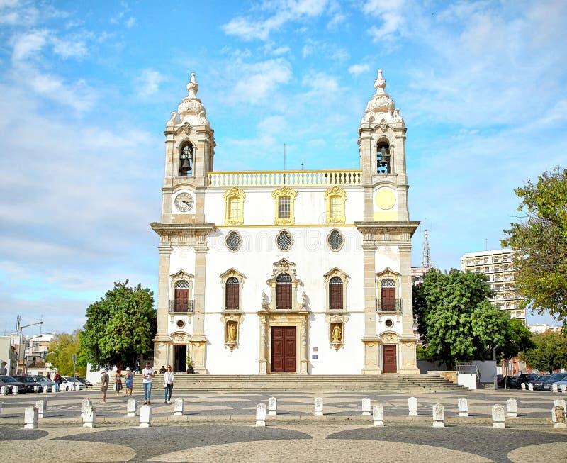 Chapelle d'église de Carmo des os région à Faro, Algarve, Portugal images libres de droits