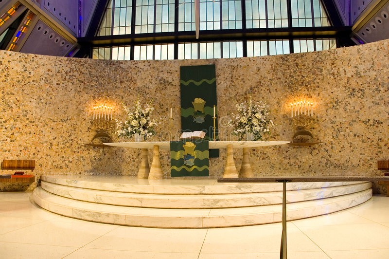 Chapelle d'académie d'Armée de l'Air d'autel photos stock