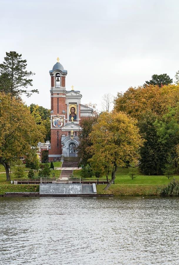 Chapelle dans la MIR, Belarus images stock
