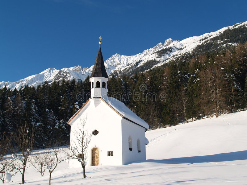 Chapelle dans le Tirol image libre de droits