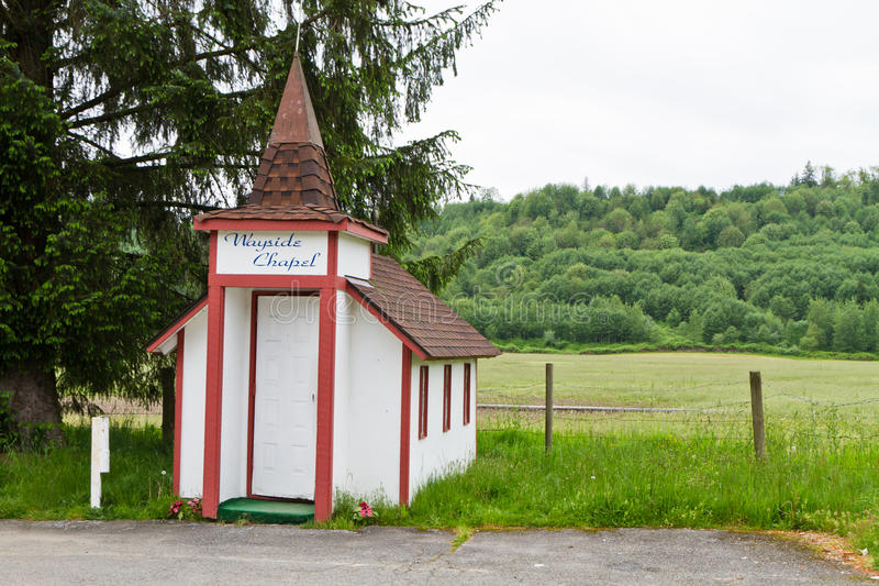 Chapelle de bord de la route photographie stock