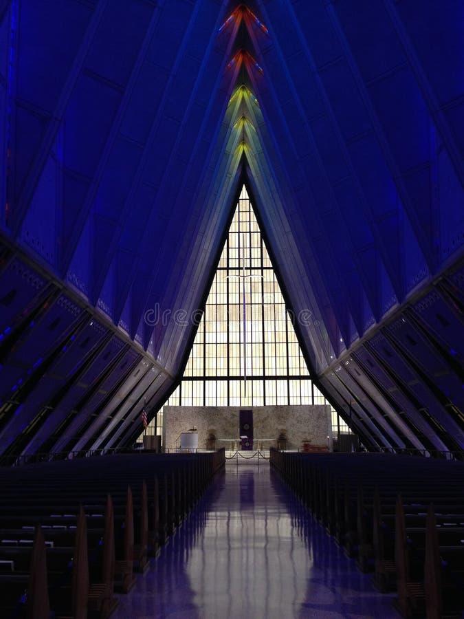 Chapelle de cadet d'armée de l'air des États-Unis photos stock