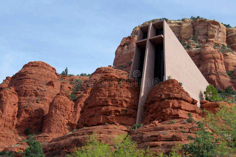 Chapelle de croix sainte dans Sedona, Arizona images libres de droits