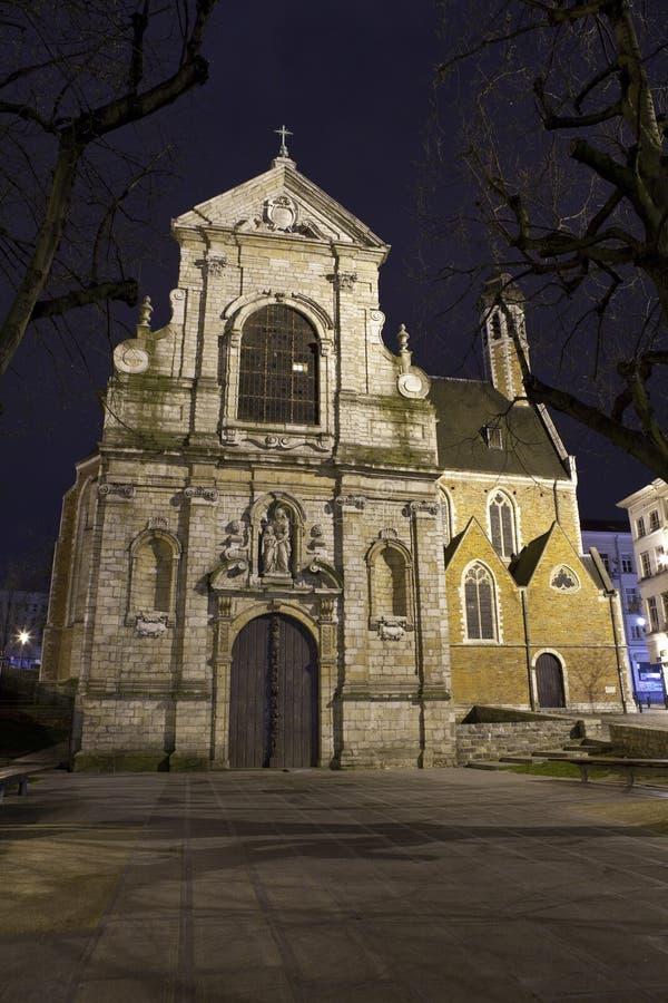 Chapelle de la Madeleine a Bruxelles fotografie stock