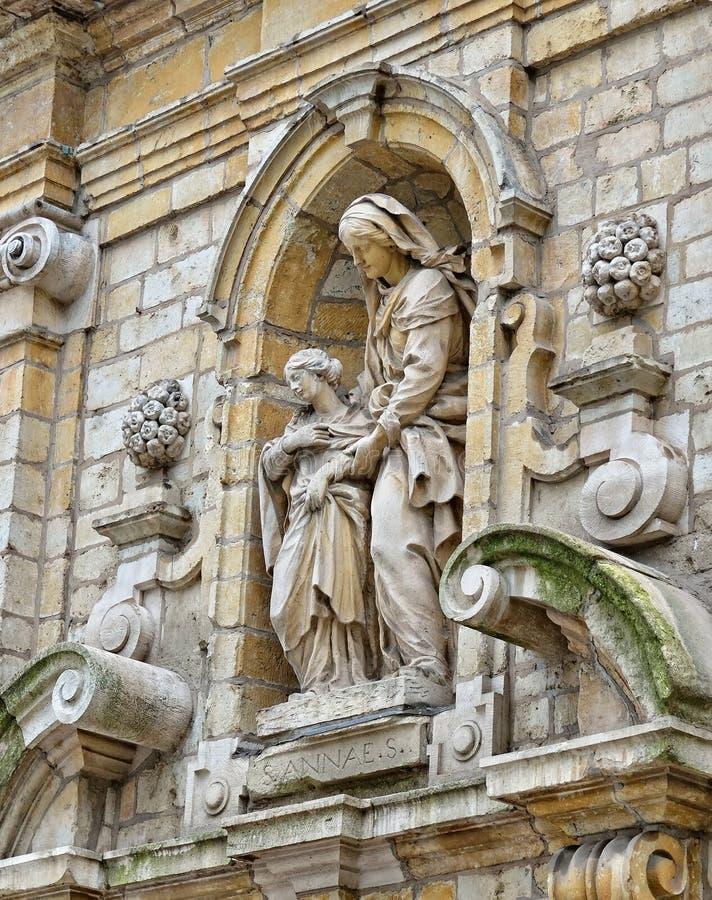 Chapelle de la Madeleine a Bruxelles, Belgio fotografia stock libera da diritti