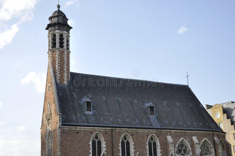 Chapelle de la Madeleine a placé à Bruxelles (Belgique) photographie stock libre de droits