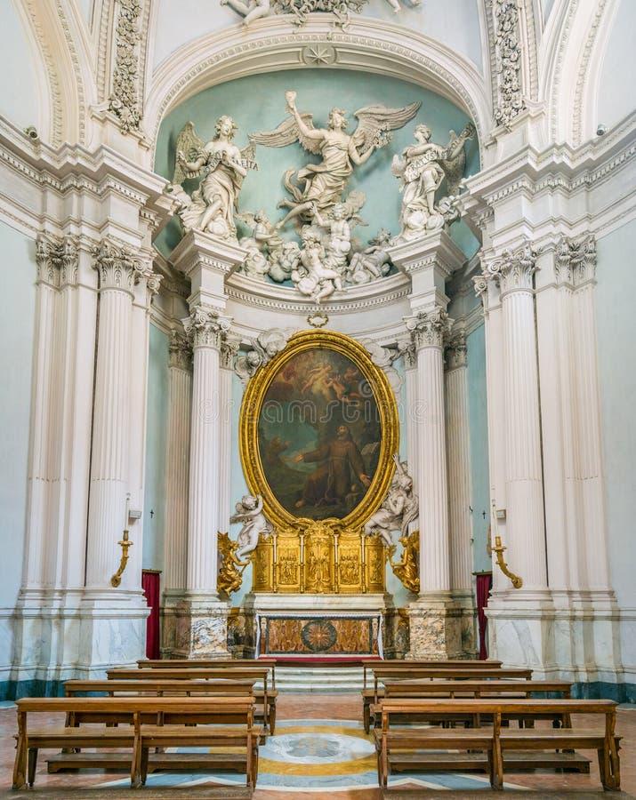 Chapelle de Lancellotti par Giovanni Antonio de Rossi, dans la basilique du saint John Lateran à Rome photos libres de droits
