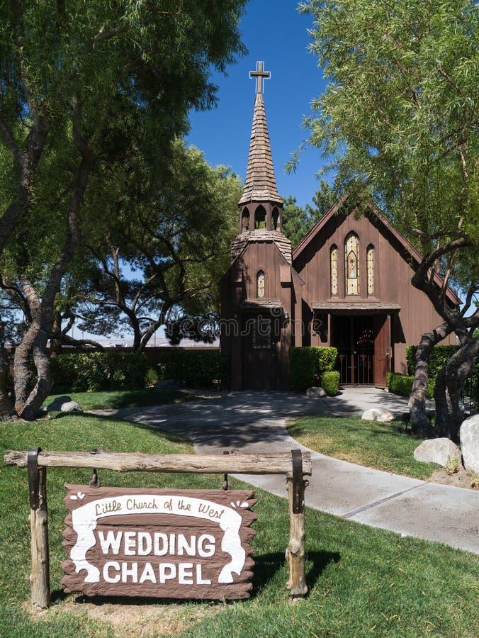 Chapelle de mariage de Las Vegas image stock
