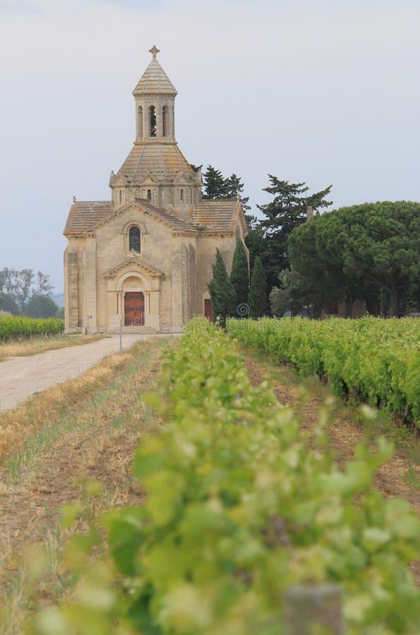 Chapelle de Montcalm, Vauvert, França imagem de stock royalty free