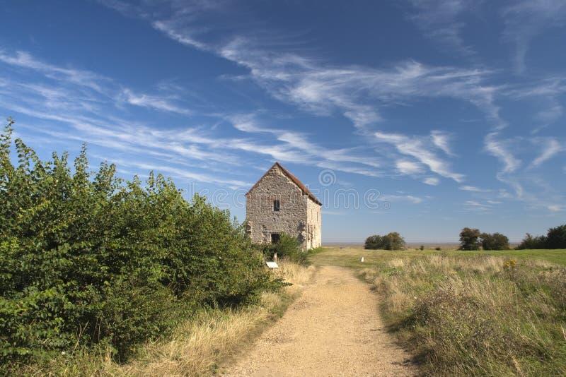 Chapelle de rue Peter, Bradwell-sur-Mer, Essex, Angleterre photographie stock libre de droits