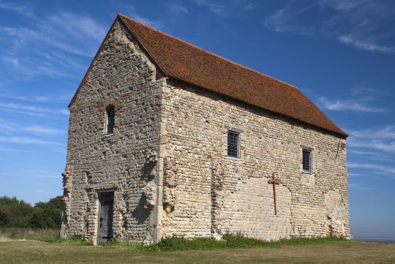 Chapelle de rue Peter, Bradwell-sur-Mer, Essex, Angleterre image stock