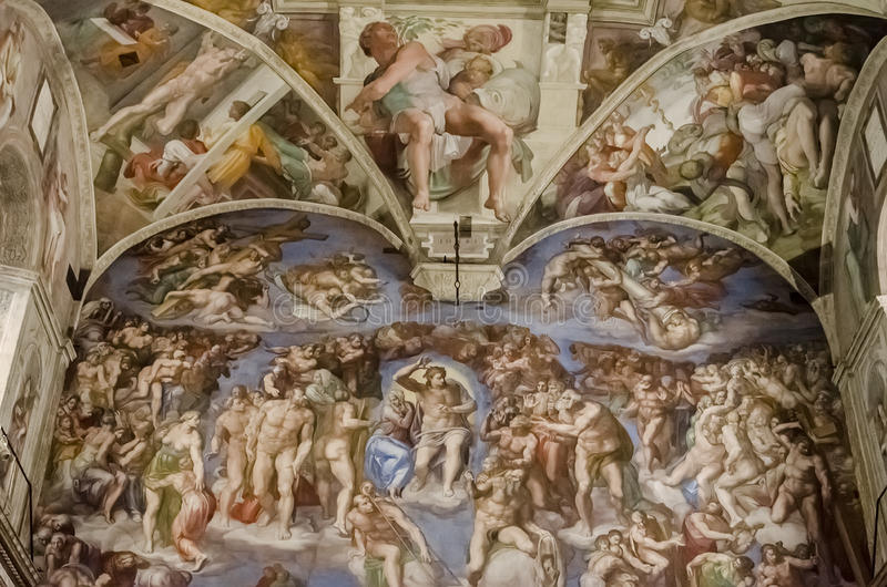Chapelle de Sistine à Vatican image libre de droits
