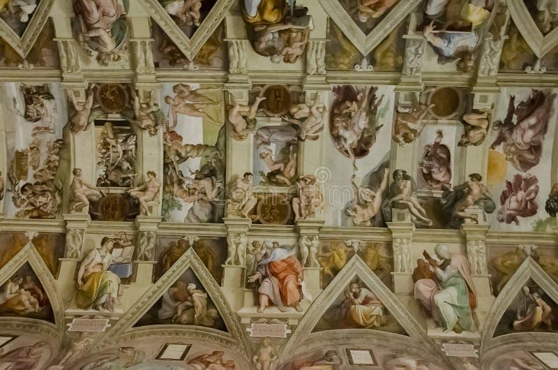 Chapelle de Sistine à Vatican images libres de droits