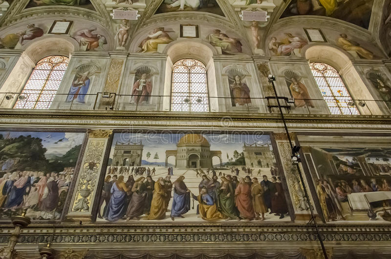 Chapelle de Sistine à Vatican images stock