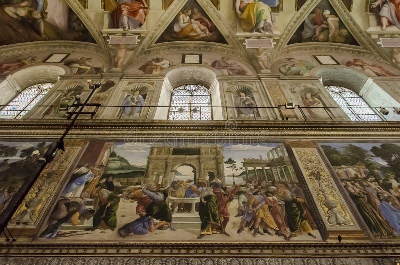 Chapelle de Sistine à Vatican photographie stock libre de droits