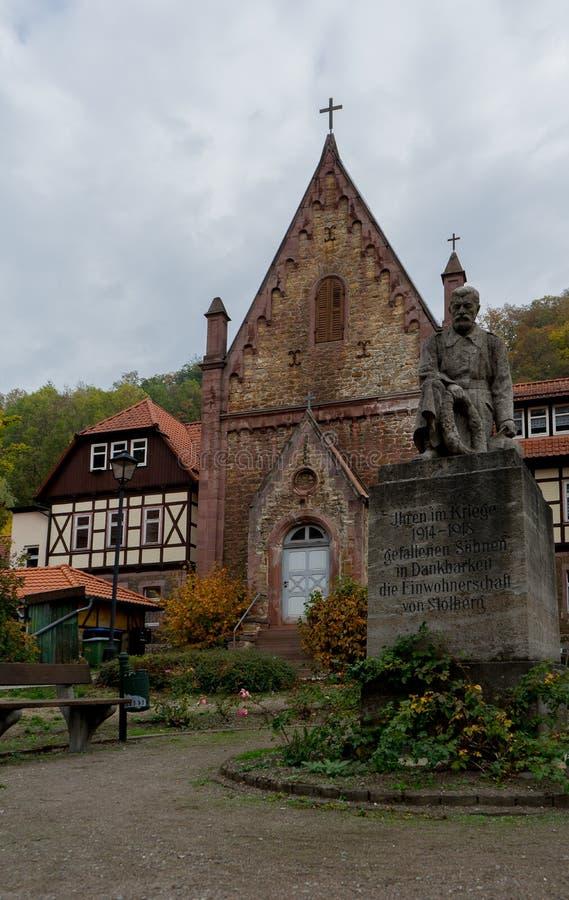 Chapelle de St Georg dans le village Stolberg dans la région Harz photos stock